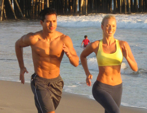 Kirsty and Mario Lopez-Knockout Fitness